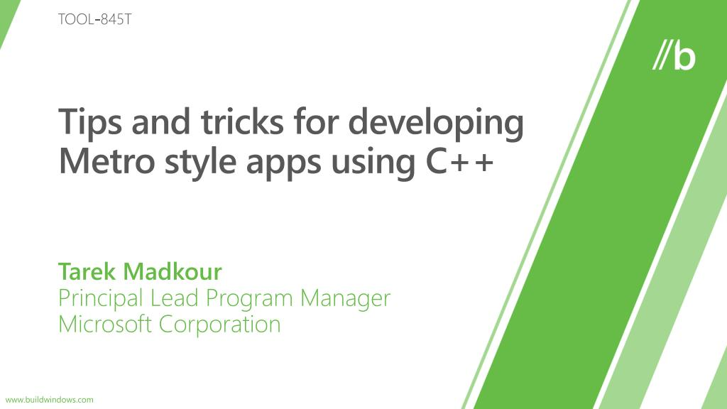 tips and tricks for developing metro style apps using c l.