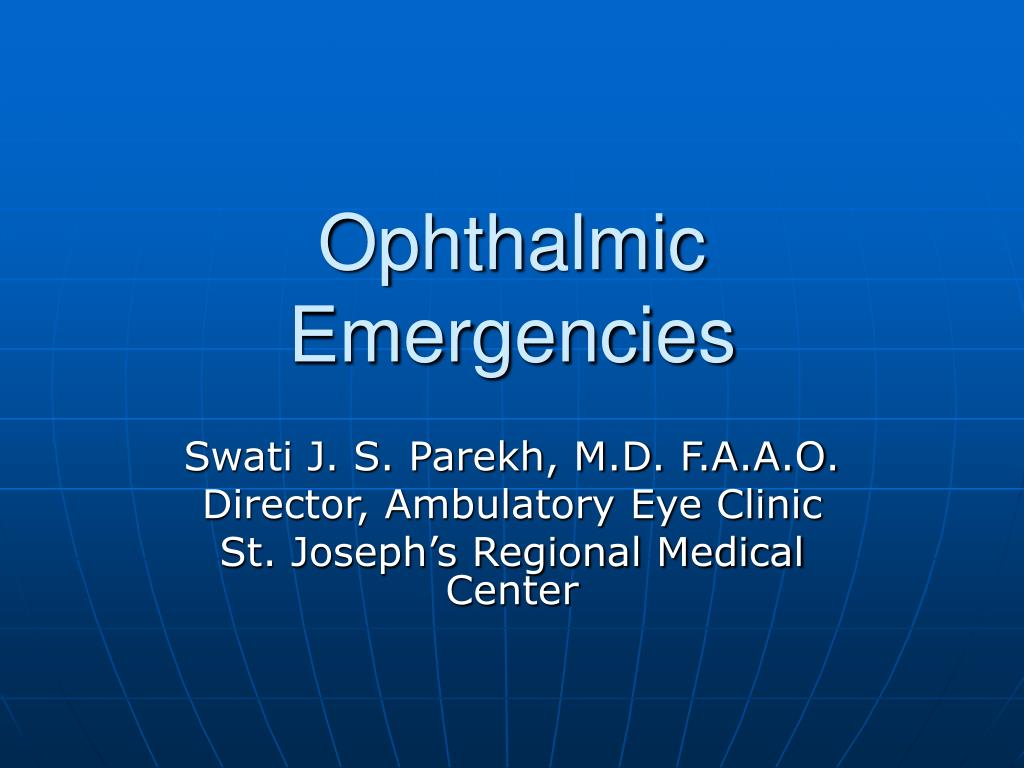 ophthalmic emergencies l.