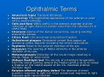 ophthalmic terms