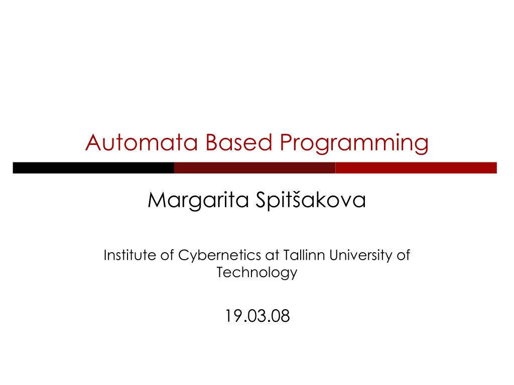 automata based programming l.
