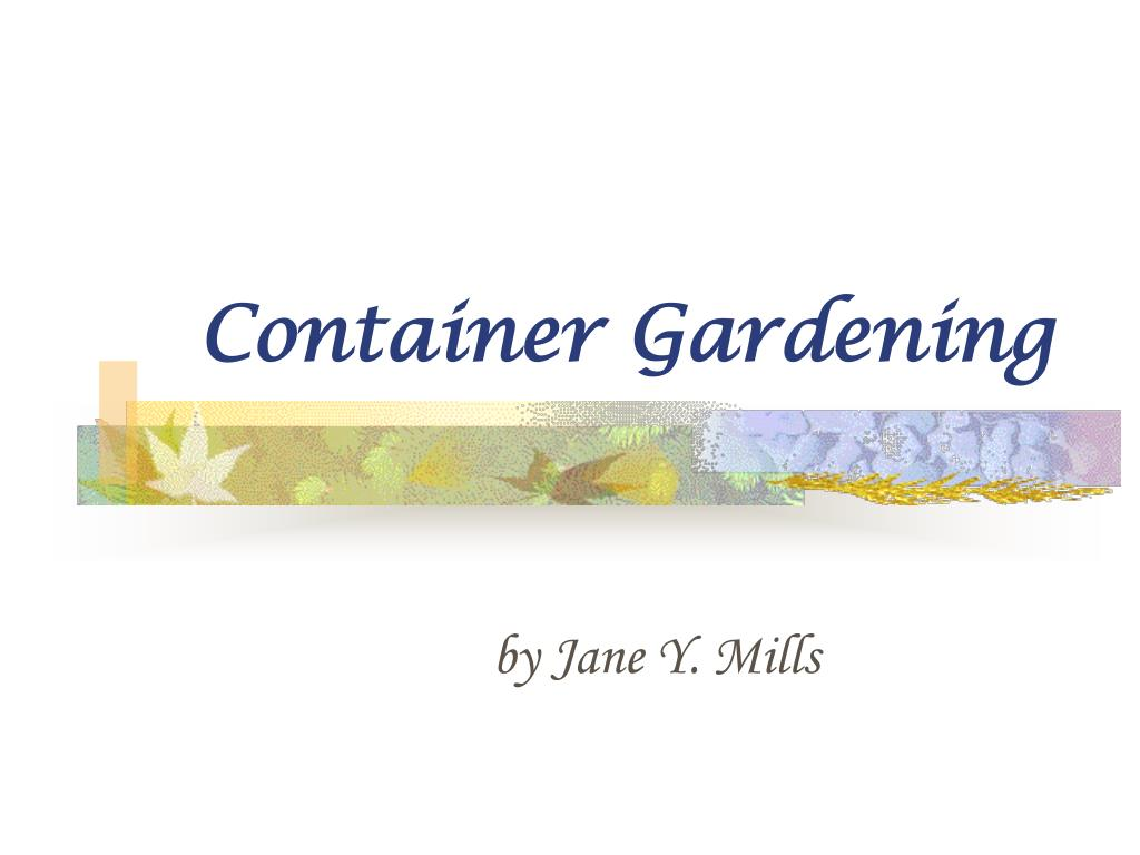 container gardening l.