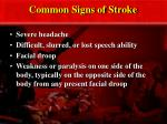 common signs of stroke