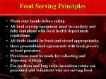 food serving principles
