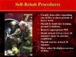 self rehab procedures