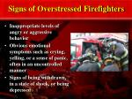 signs of overstressed firefighters