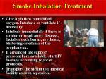 smoke inhalation treatment