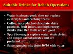 suitable drinks for rehab operations