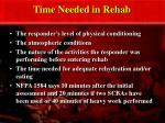 time needed in rehab