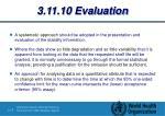 3 11 10 evaluation