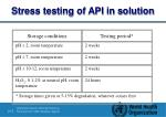 s tress testing of api in solution