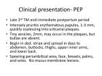 clinical presentation pep