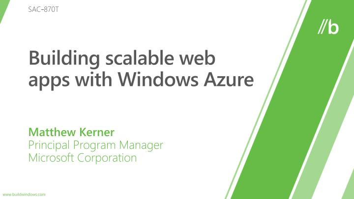 building scalable web apps with windows azure n.