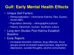 gulf early mental health effects