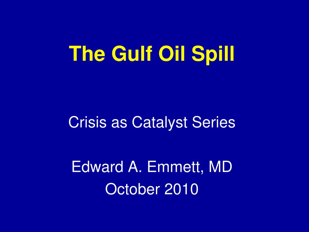 the gulf oil spill l.