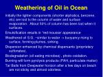 weathering of oil in ocean