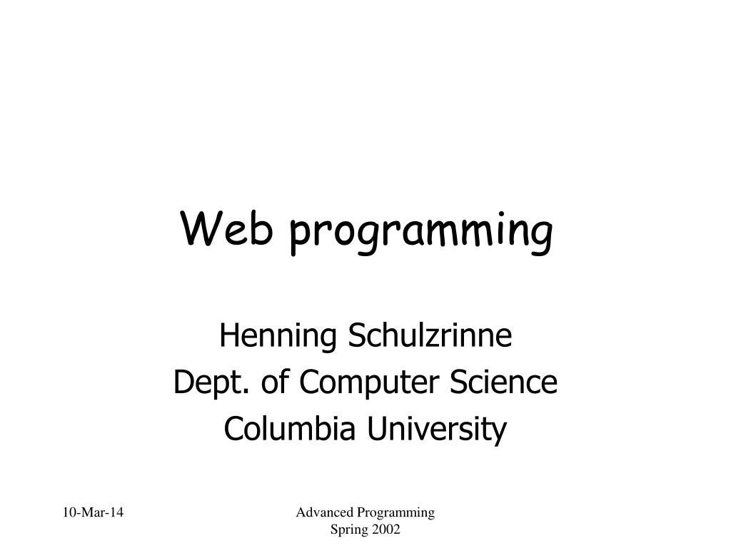 web programming l.