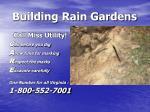building rain gardens