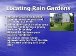 locating rain gardens
