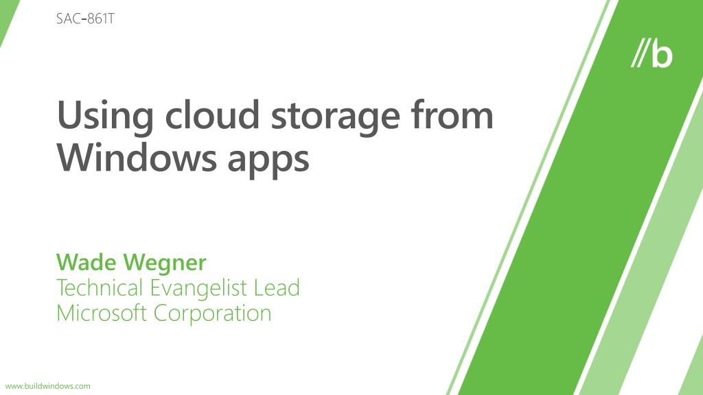 using cloud storage from windows apps l.