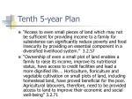 tenth 5 year plan