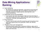 data mining applications banking
