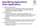 data mining applications other applications