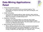 data mining applications retail