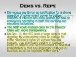 dems vs reps