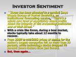 investor sentiment