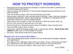 how to protect workers