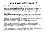 snow plow safety cont