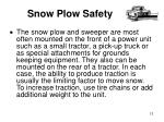 snow plow safety