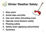 winter weather safety