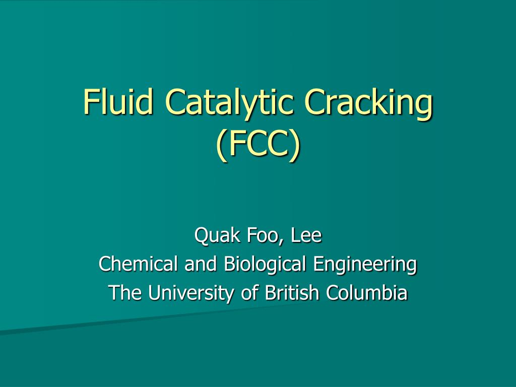 fluid catalytic cracking fcc l.