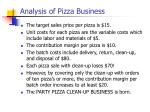 analysis of pizza business