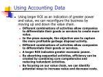 using accounting data