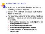 value chain discussion
