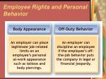employee rights and personal behavior