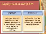 employment at will eaw