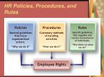 hr policies procedures and rules