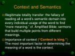context and semantics