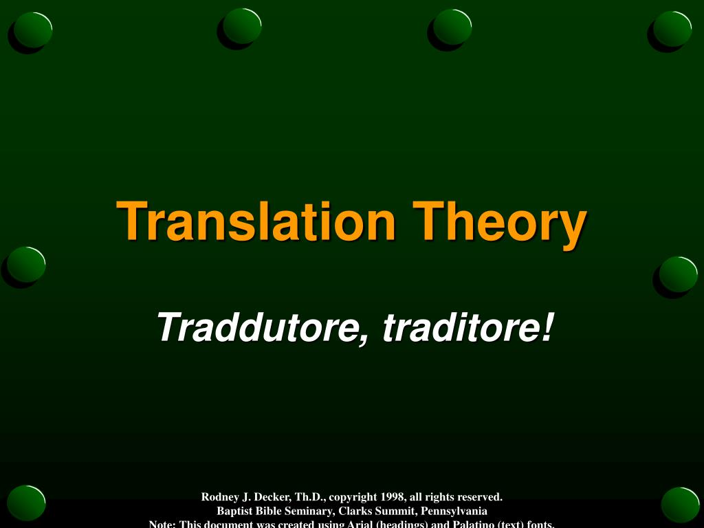translation theory l.