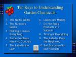 ten keys to understanding garden chemicals