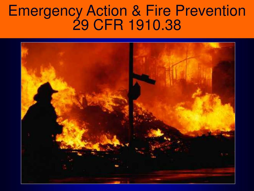 emergency action fire prevention 29 cfr 1910 38 l.