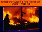 emergency action fire prevention 29 cfr 1910 38