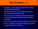 quiz answers cont