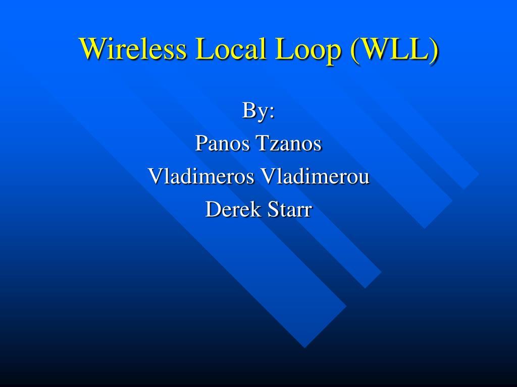 wireless local loop wll l.