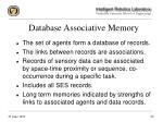 database associative memory