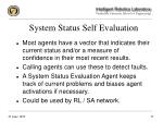 system status self evaluation