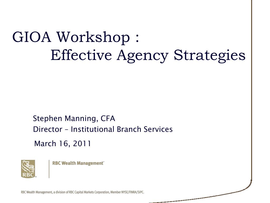 gioa workshop effective agency strategies l.